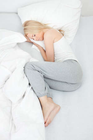 Young beautiful woman sleeping photo