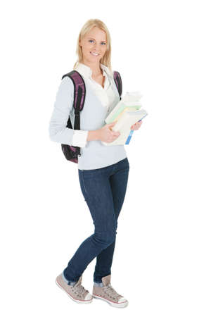 Portrait of beautiful student girl Stock Photo - 12475295