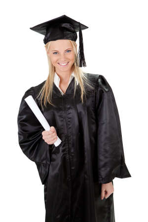 Beautiful female student graduating photo