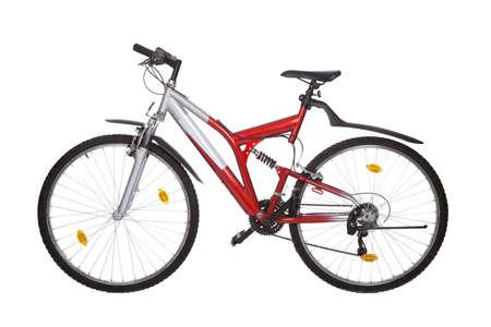 mountain bicycle: Mountain bike isolato su bianco