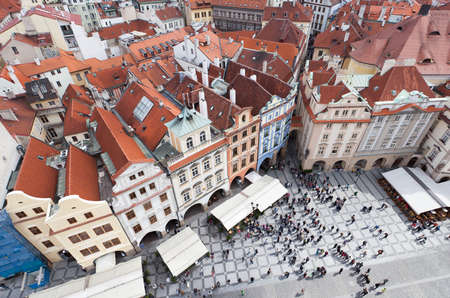 Old Town Square, Prague, View from the Town Hall tower,,