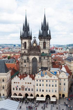 tyn: Gothic Tyn Church, Old Town,Prague, Czech Republic