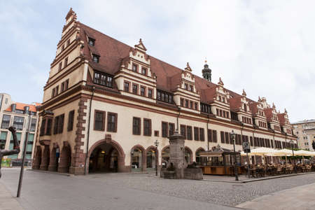 leipzig: Old Rathaus (Town hall) in Leipzig, Germany,,, Stock Photo