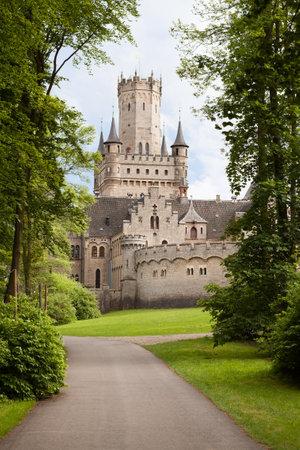 castle rock: Photos of Ancient Marienburg Castle, Lower Saxony, Germany,, Editorial