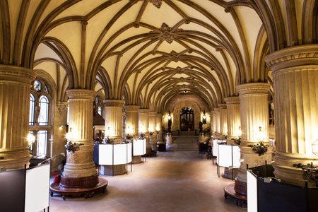 castle interior: Inside the Rathaus  Town hall , Hamburg, Germany,,