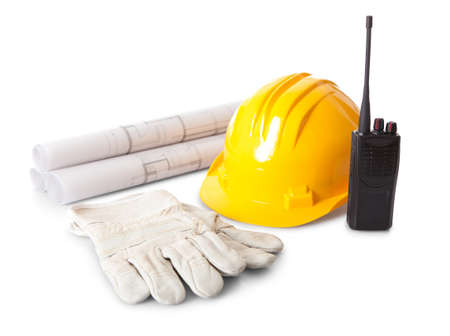 talkie: Set of constructions worker objects. Isolate don white