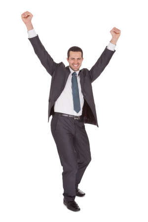 Portrait of successful businessman. Isolated on white Stock Photo - 15000456