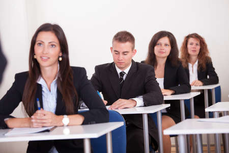 staff training: Portrait Of Business People At A Business School