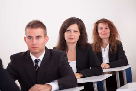 Portrait Of Business People At A Business School photo