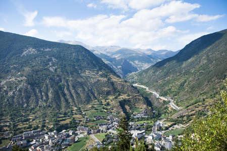 andorra: Panoramic Aerial view of the Andorra la Vella, Andorra