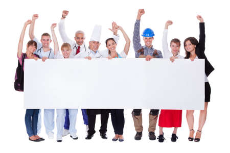 Large group of people representing diverse professions including Stock Photo - 16406204