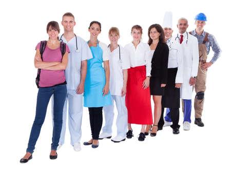 professions lib�rales: Grand groupe de personnes repr�sentant diverses professions, y compris