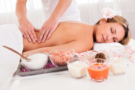 Client relaxing in massage at the spa Stock Photo - 16522255