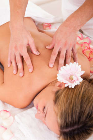 Client relaxing in massage at the spa Stock Photo - 16522157
