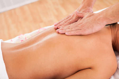 The beauty of experienced hands working through customer's back Stock Photo - 16522010