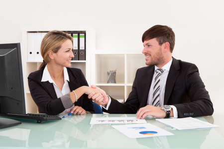 Meeting attended by both parties for joint business venture. Stock Photo - 16522320