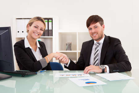 Meeting attended by both parties for joint business venture. Stock Photo - 16522227
