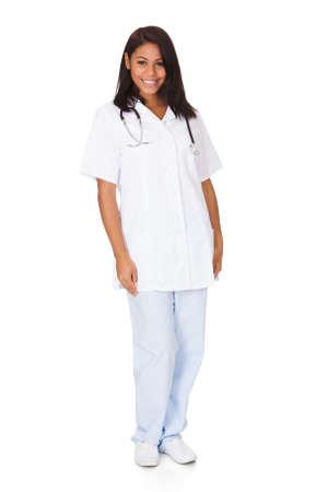 Happy Female Doctor. Isolated On White Background Stock Photo - 17630242