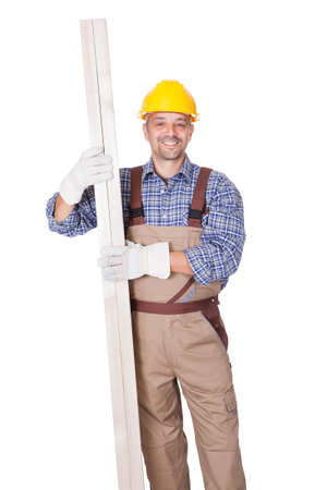 Portrait Of A Construction Worker Isolated On White Background Stock Photo - 17738957