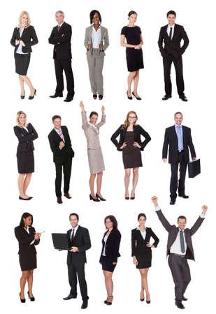 razas de personas: Los empresarios, gerentes, ejecutivos. Aislado sobre fondo blanco Foto de archivo
