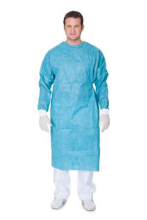 Portrait of confident surgeon. Isolated on white background Stock Photo - 18065170