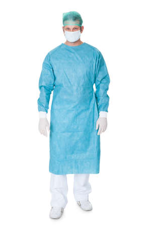 Portrait of confident surgeon. Isolated on white background Stock Photo - 18065244