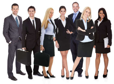 Group of business people. Isolated on white photo