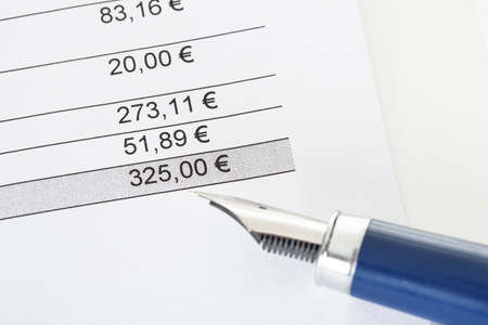 due: Close-up on total amount due in invoice