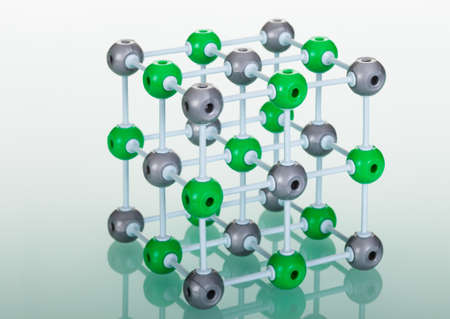 fundamental: Model of molecular structure on green reflective background