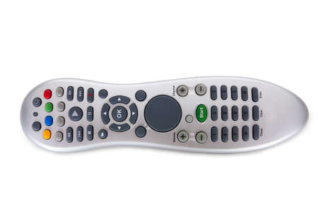 command button: Close-up Of A Remote Control Isolated On White Background