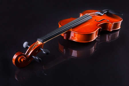 Close-up Of Vintage Violin Over Black Background Stock Photo - 18579866
