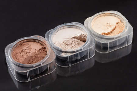 Close-up Photo Of Three Cosmetic Powder Colors photo
