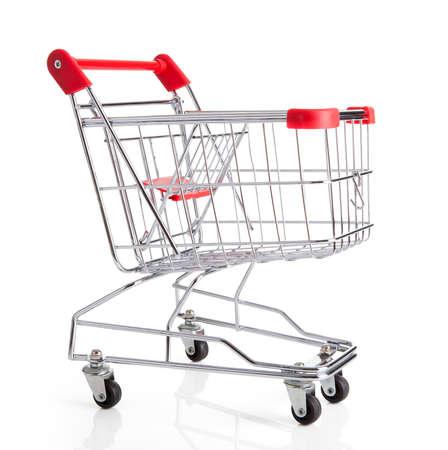 shoppingcart: Empty Shopping Cart Isolated Over White Background
