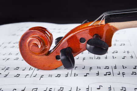 Close-up Photo Of Violin And Musical Notes Stock Photo - 18720766