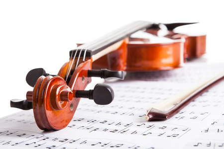 Close-up Photo Of Violin And Musical Notes Stock Photo - 18719861