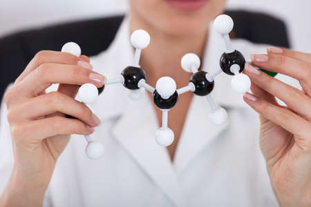 Female Scientist Concentrating On Molecular Structure In Laboratory Stock Photo - 18719862