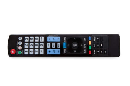 Close-up Of A Remote Control Isolated On White Background photo