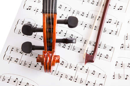 Close-up Photo Of Violin And Musical Notes Stock Photo - 18907487