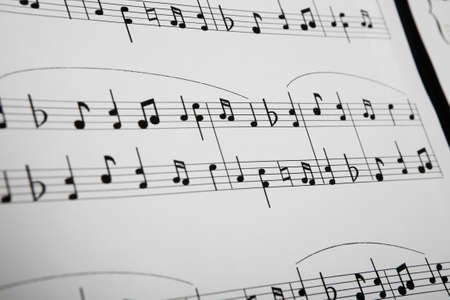 music stand: Close-up Of Musical Notes Stock Photo
