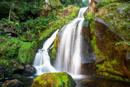 highest: Triberg Falls is one of the highest waterfalls in Germany Stock Photo