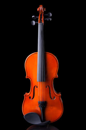 Close-up Of Vintage Violin Over Black Background Stock Photo - 19003878