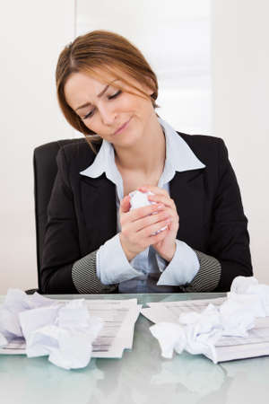 Portrait Of Frustrated Businesswoman In The Office Stock Photo - 19085928