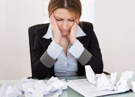 Portrait Of Frustrated Businesswoman In The Office Stock Photo - 19341084