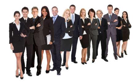 사업 사람들의 그룹입니다. 흰색에 고립
