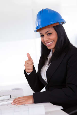 Portrait Of Happy Female Architect Working In Office Stock Photo - 19979829
