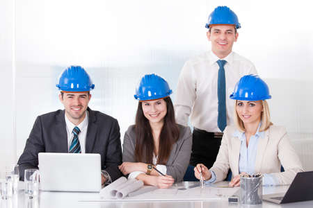 Group Of Architect People Working On Project Stock Photo - 20504939