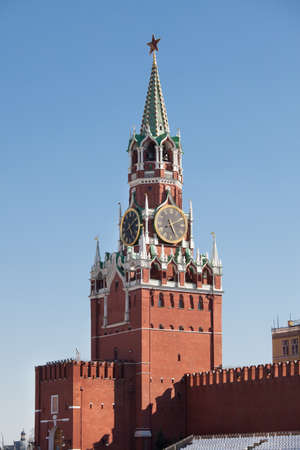 Spasskaya tower in Kremlin. Moscow. Russia photo