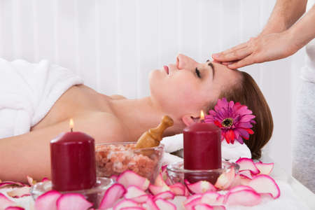 Woman getting treatment in the spa centre Stock Photo - 20615458