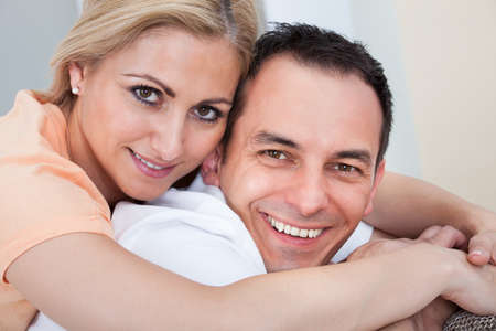Portrait Of Mid-adult Happy Couple Smiling Together Stock Photo - 21234511