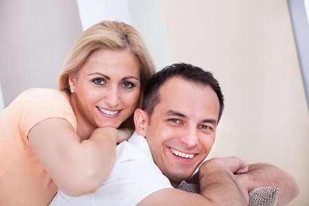 Portrait Of Mid-adult Happy Couple Smiling Together Stock Photo - 21327892